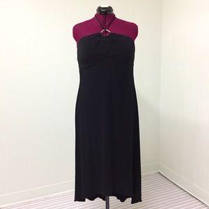 14 B. MOSS Sexy Stretchy Black Maxi Halter Dress